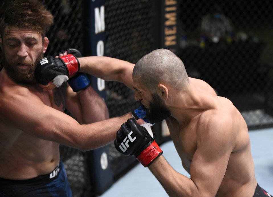 Khamzat Chimaev knocking out Gerald Meerschaert in 17 seconds